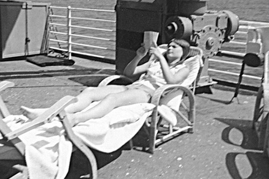 LAURA SUNBATHING, USS Steelmaker