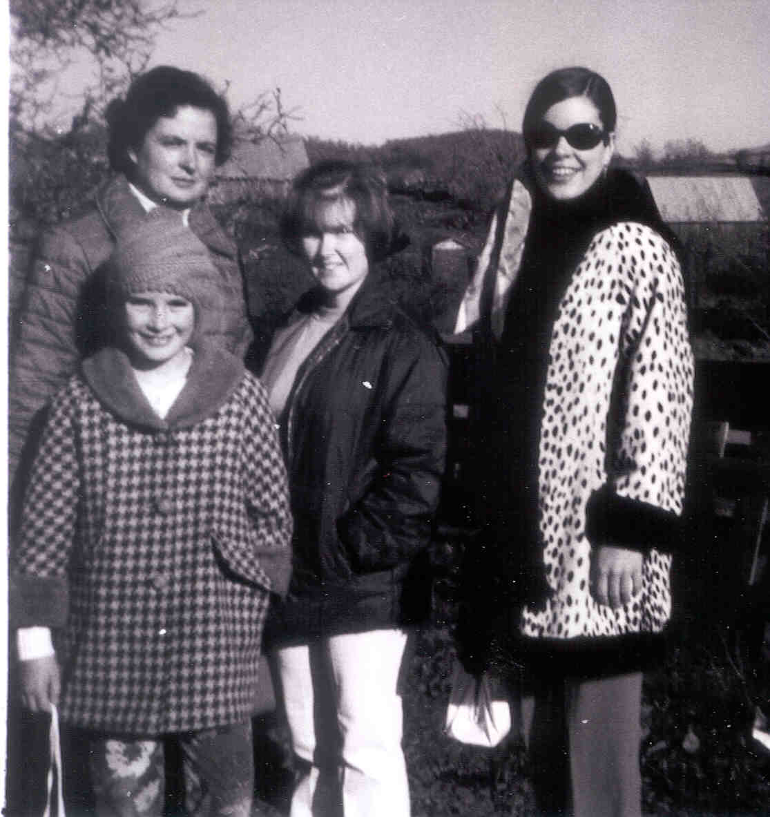 Mom, Elsie, me, Carly